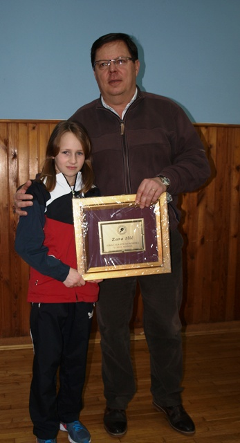 Stolnotenisačica Kluba 2013. Juro Horvat i Zara