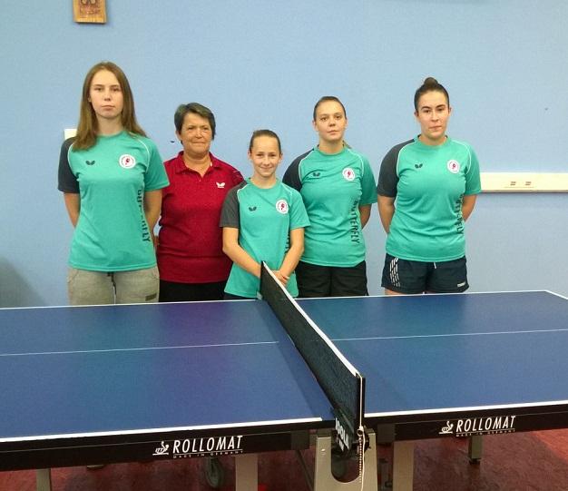 STK Samobor sezona 2016-17, lnd Klara Znika, Ivana Medvedović, Zara Ilić, Mia Janković i Marta Horvatinović