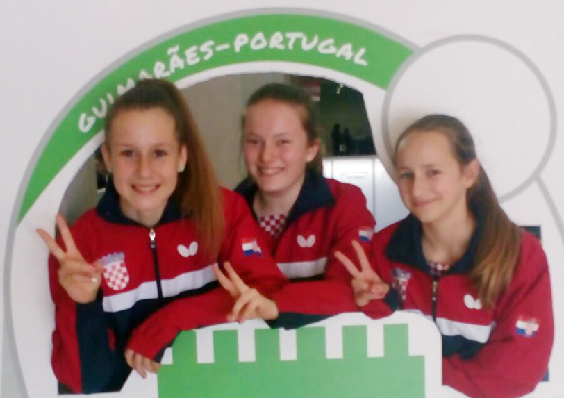 60. Europskom omladinskom prvenstvu u portugalskom Guimaraesu Zara prva s desna